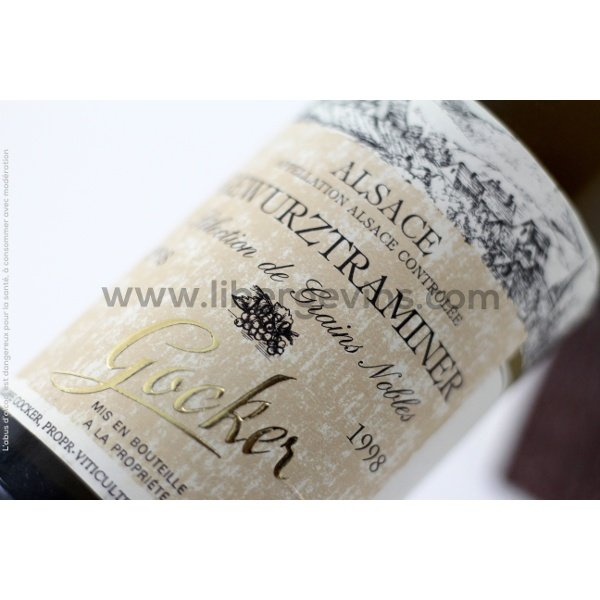 DOMAINE GOCKER - ALSACE AOP - SELECTION DE GRAINS NOBLES 1998